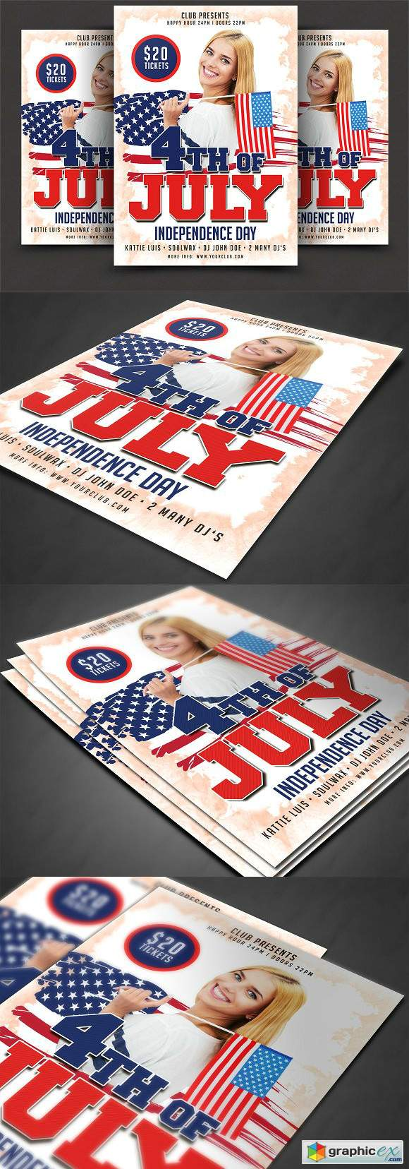 4th Of July Flyer Template 2555034