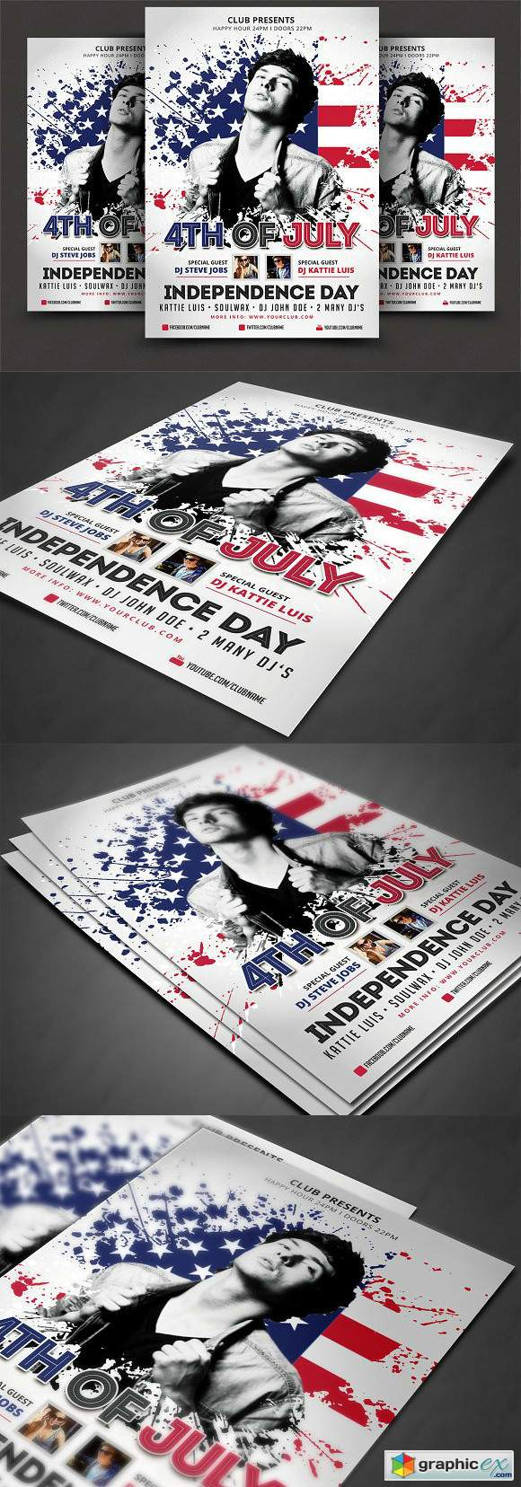 4th Of July Flyer Template 2555025