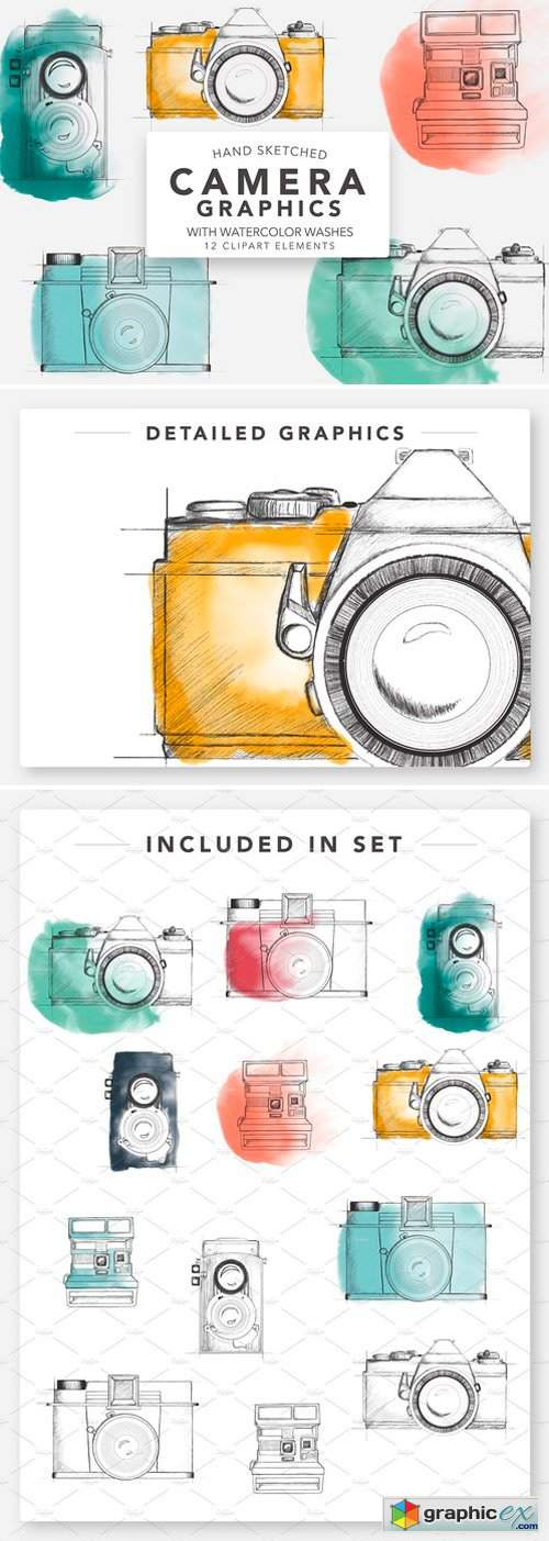 SKETCHED CAMERA GRAPHICS FOR LOGOS