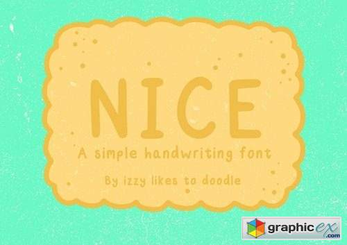 Nice - A Simple Handwriting Font