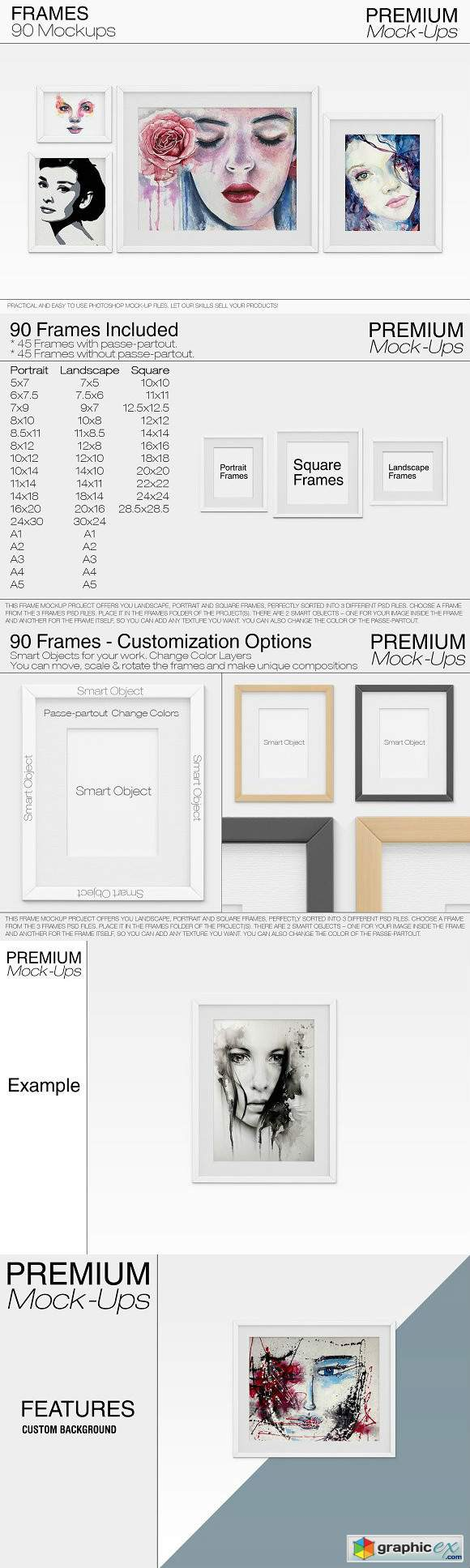 90 Customizable Frames Pack