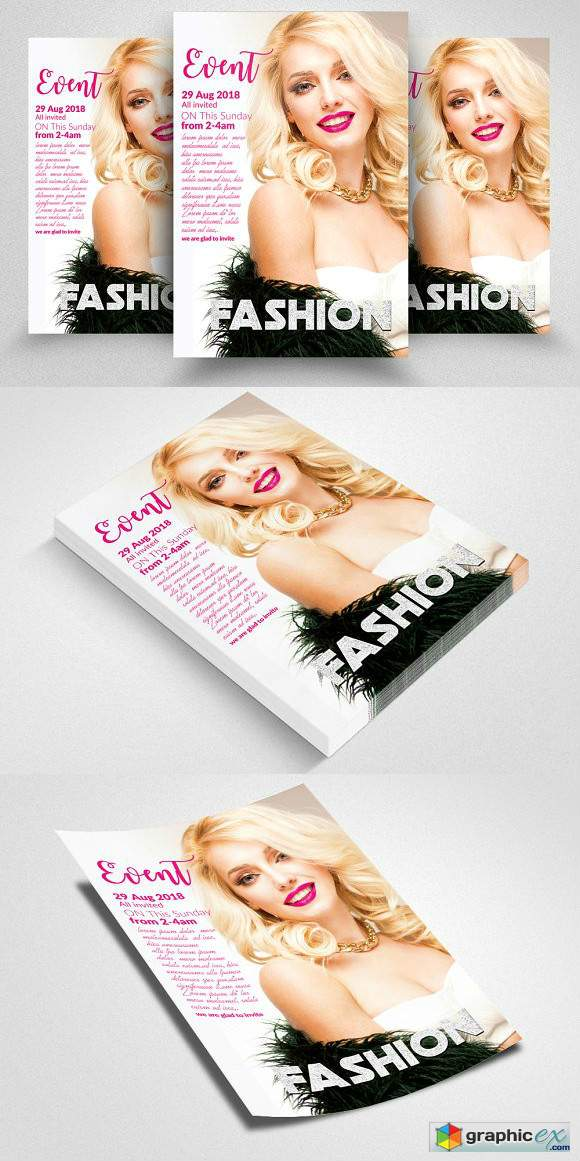 Fashion Flyer Template Vol 02