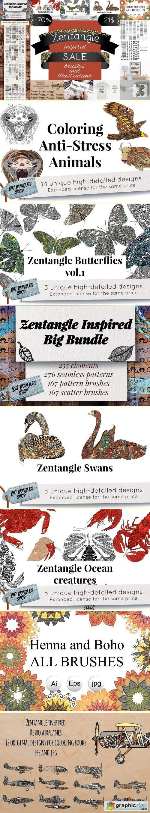 70% off Zentangle inspired SALE