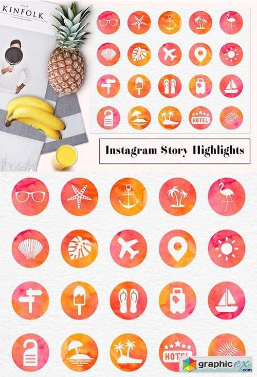 instagram story highlight icons  u00bb free download vector