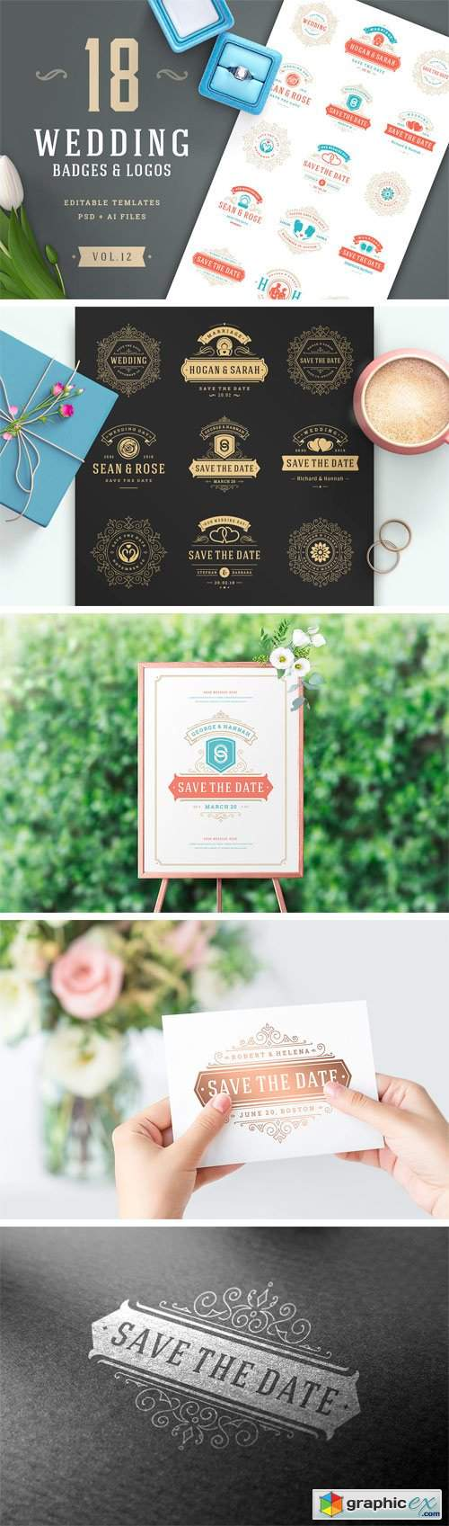 18 Wedding Logos and Badges 2202122
