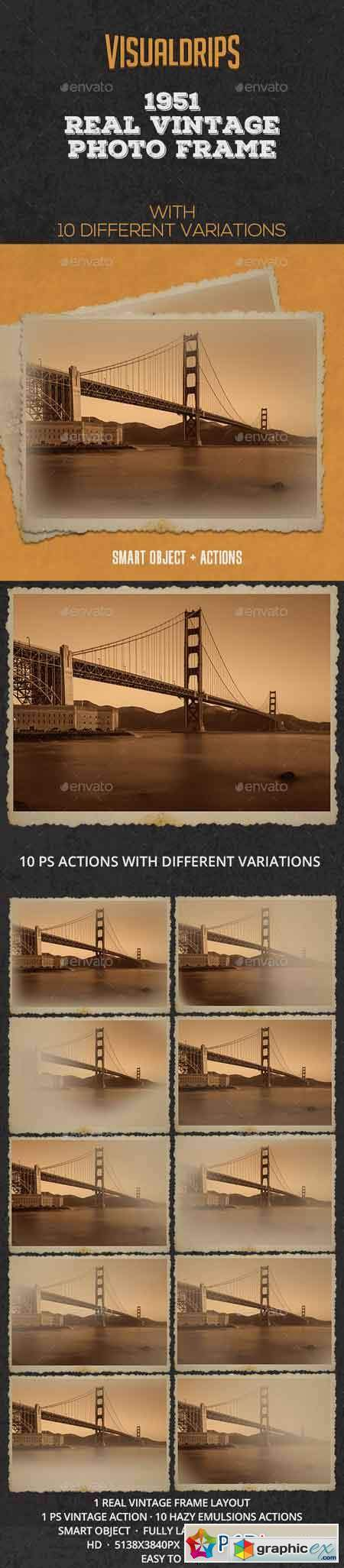 1951 Vintage Frame Photoshop Template » Free Download Vector Stock