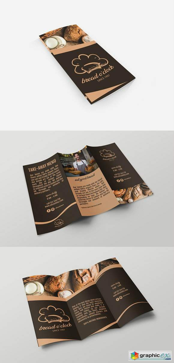 Bread Oclock Trifold Template