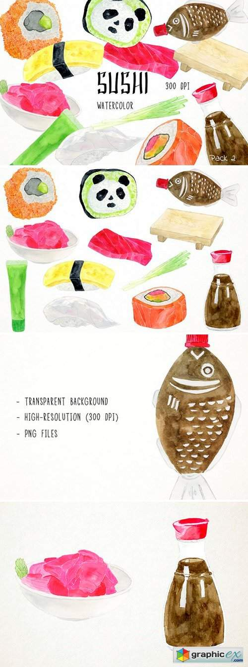 Sushi Clipart Pack 2