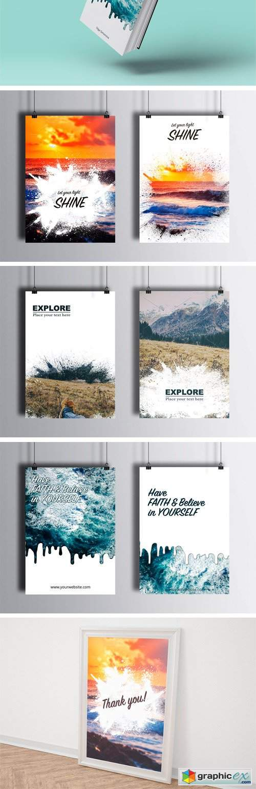 100% Editable Poster Templates