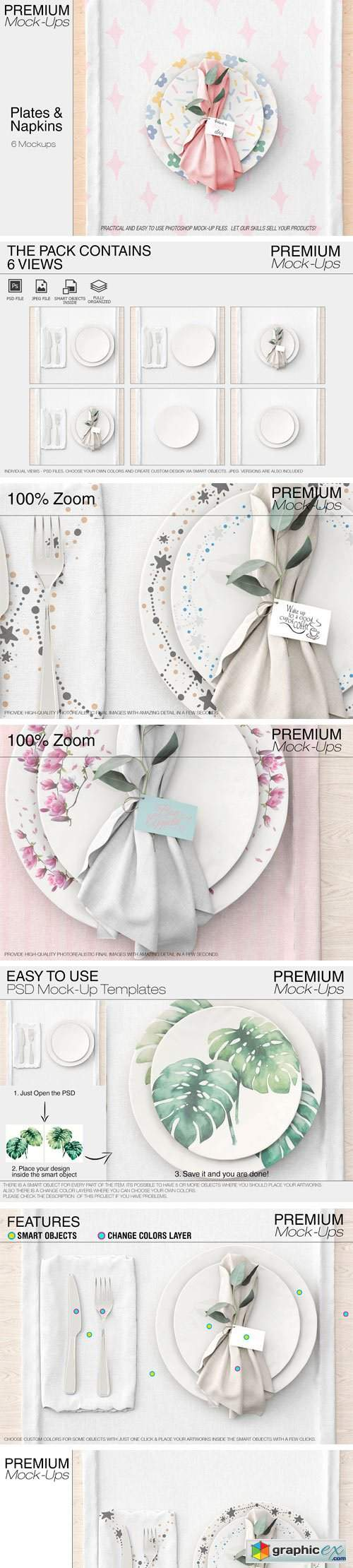 Plates & Tablecloth Set 2362548