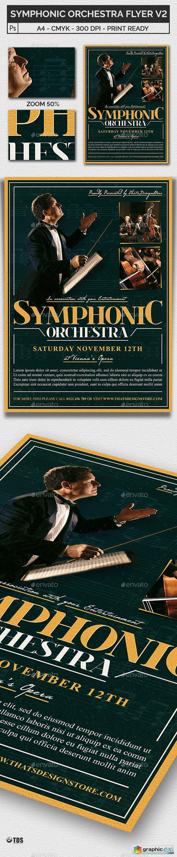 Symphonic Orchestra Flyer Template V2 by lou606