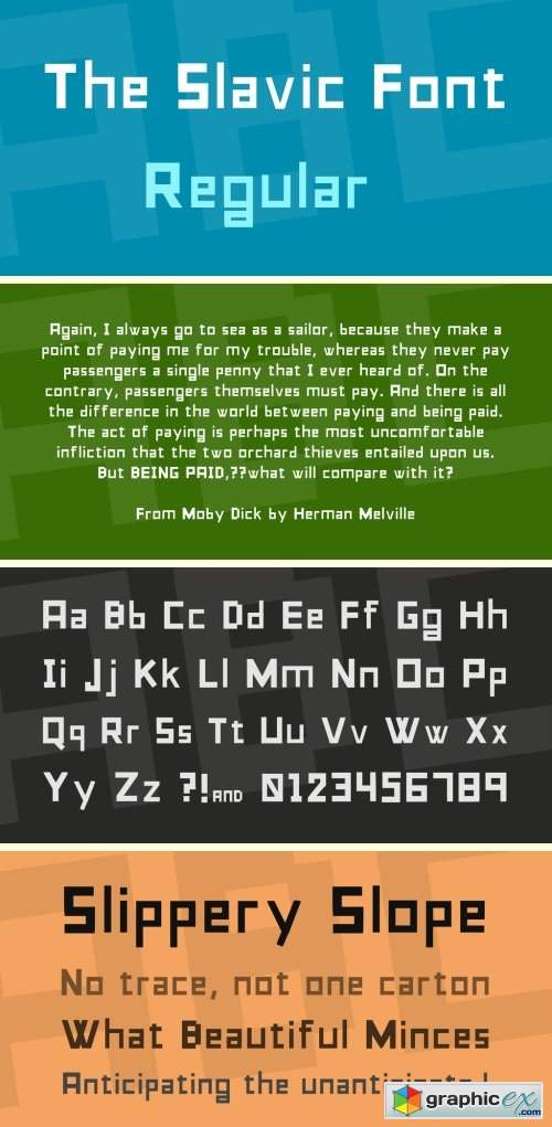 The Slavic Font Font