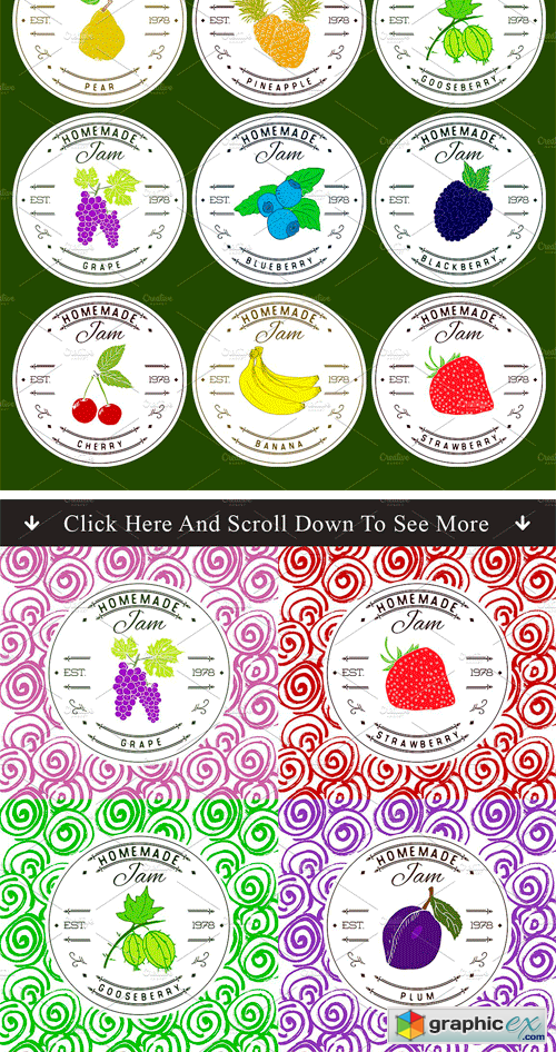 Jam Labels Design Template vol.1