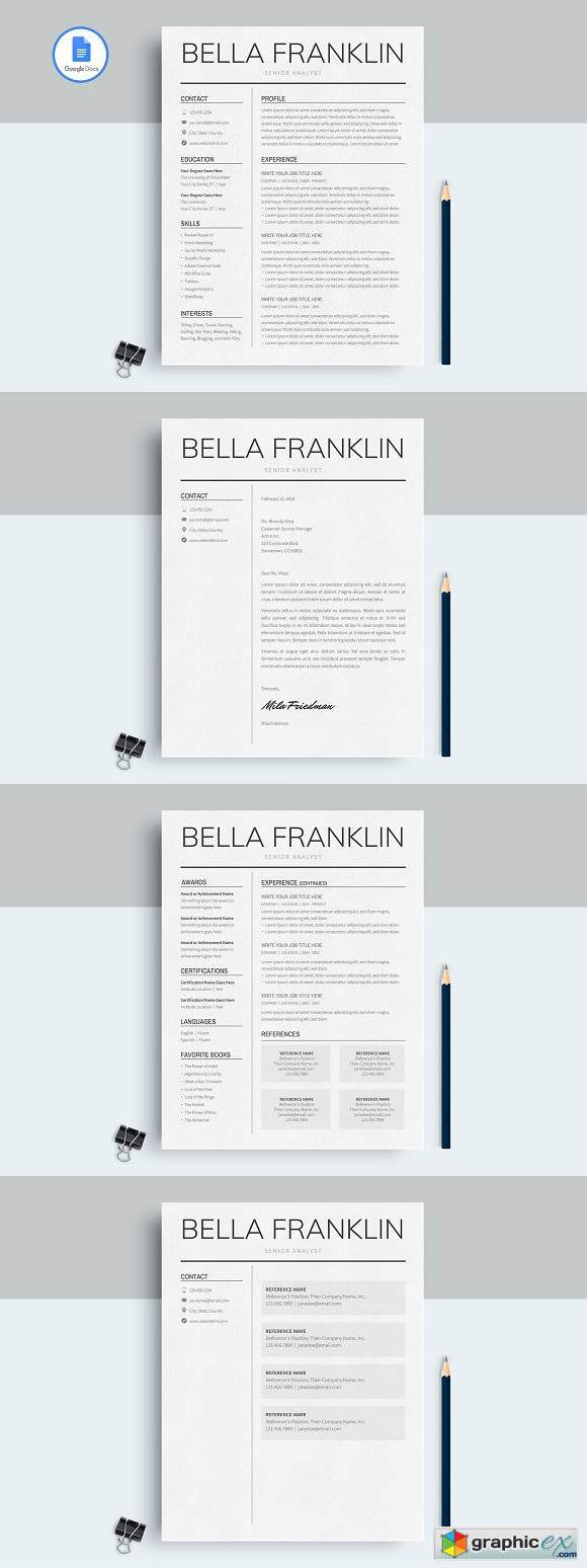 Google Docs Cv Template Free from graphicex.com