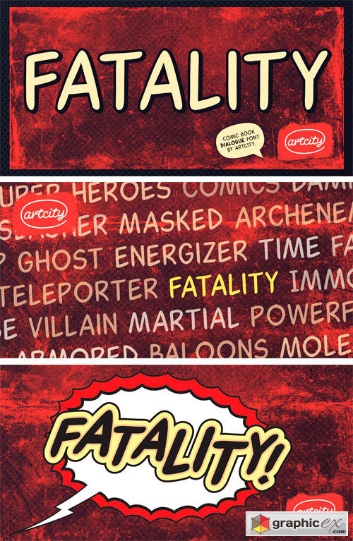 Fatality Font Family » Free Download Vector Stock Image Photoshop Icon