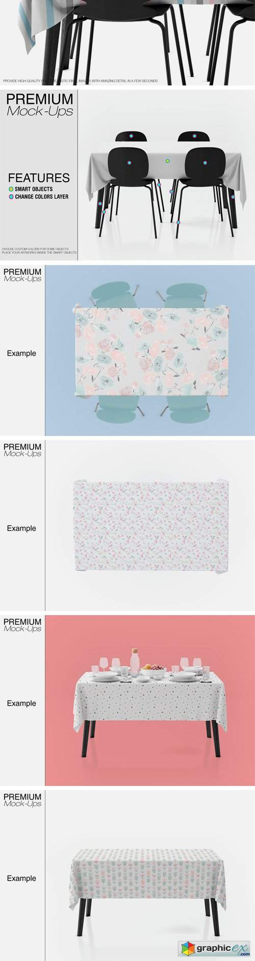 Tablecloth Mockup Set 2431090