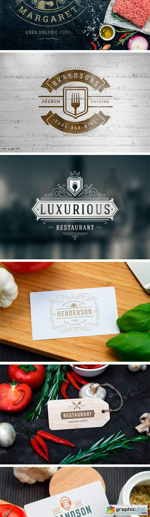 36 Restaurant Logos and Badges 2510728