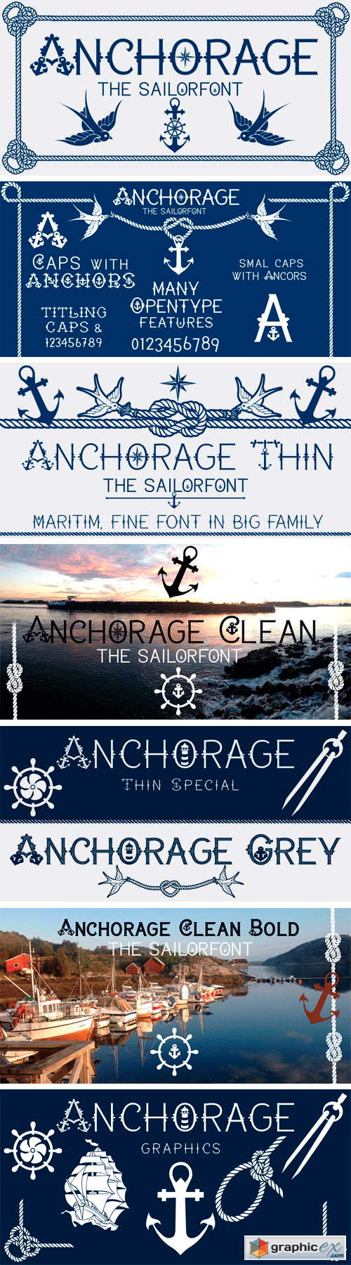 Anchorage Font Family
