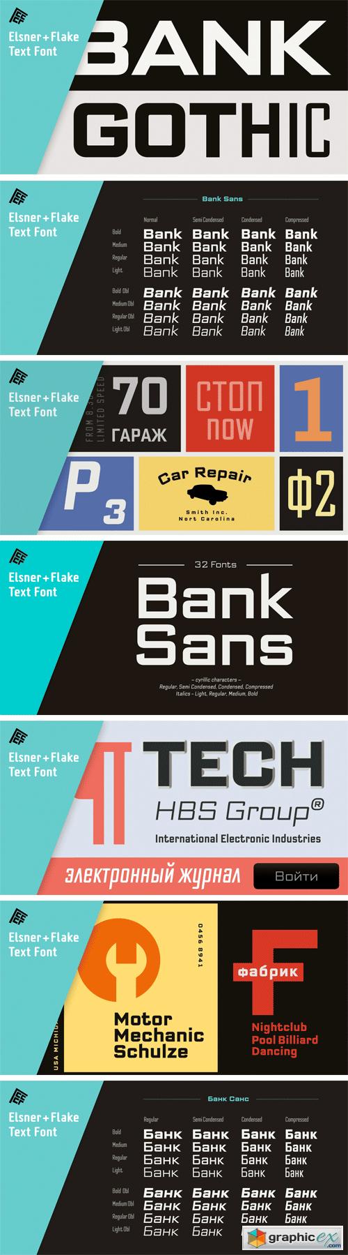 Bank Sans EF Font Family » Free Download Vector Stock Image