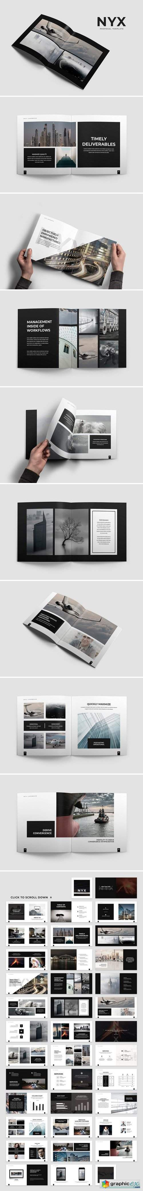 nyx lookbook template free download vector stock image photoshop icon