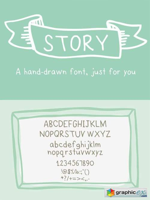 Story- a HandDrawn Font just for you 26204