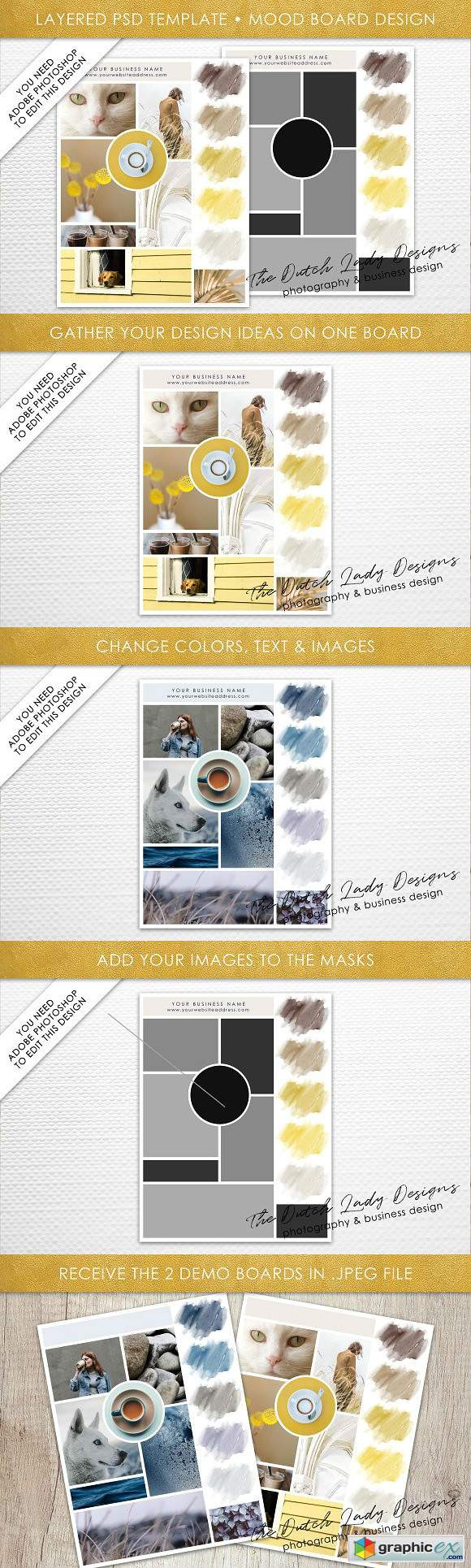 Mood Vision Board Template 5 Free Download Vector Stock Image