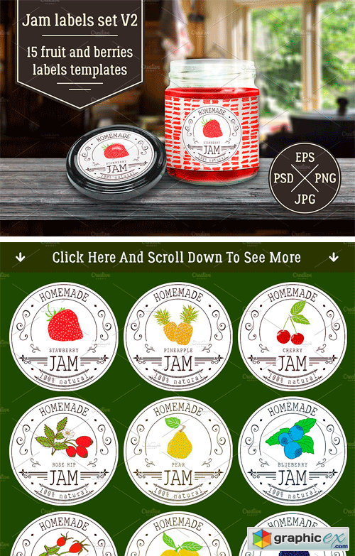 jam labels design template vol 2 free download vector stock image