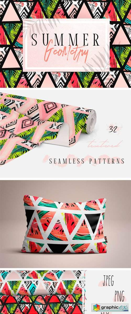 Summer Geometry Pattern Set
