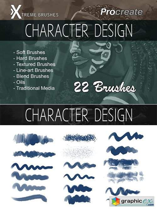 Procreate Character Design Brushes