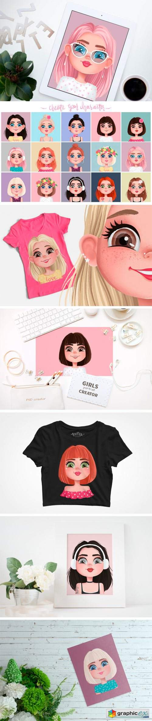 Girls Portrait Creator!
