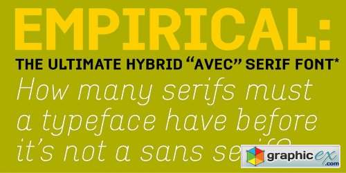 Empirical Font Family - 12 Fonts