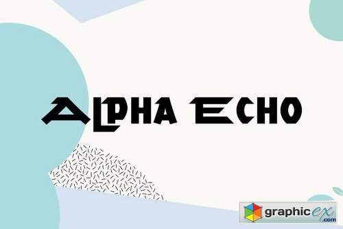Alpha Echo Family - 2 Fonts