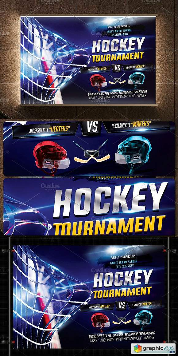 Hockey Flyer Template » Free Download Vector Stock Image Photoshop Icon