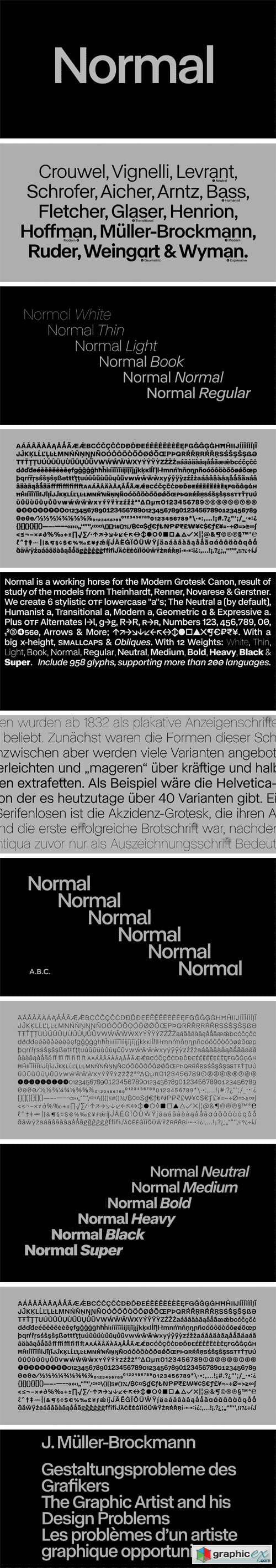 ABC Normal Font Family