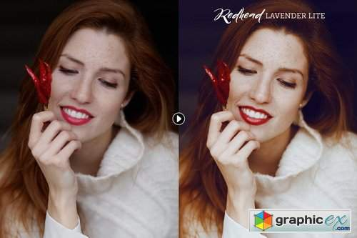 Redhead Photoshop Action