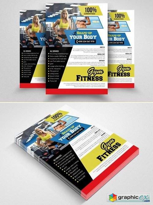 Fitness Gym PSD Flyer Templates 1570188