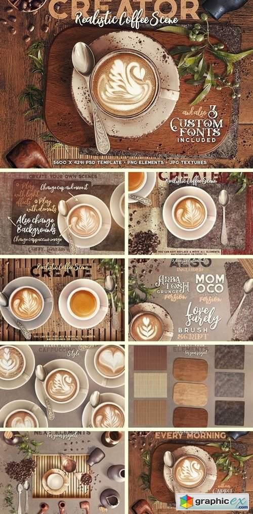 Coffee & Barista Mock-up Creator