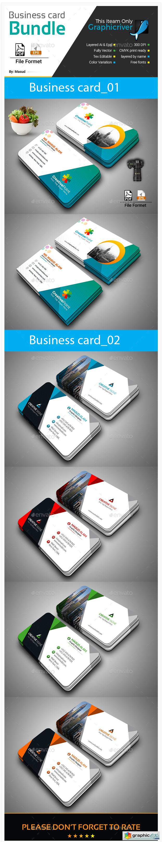 Business Card Bundle 2 in 1 22188736