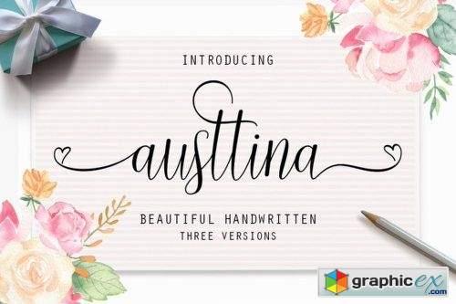 Austtina - 3 Fonts