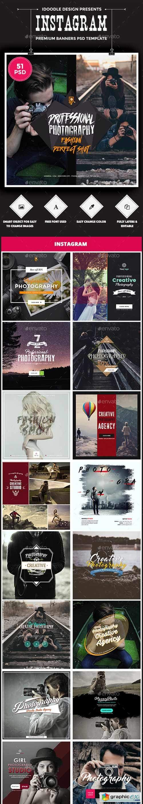 Bundle Photography Instagram - 51 PSD [03 Sets]
