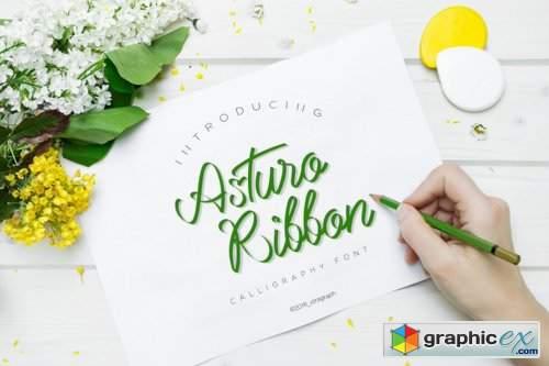 Asturo Ribbon Font