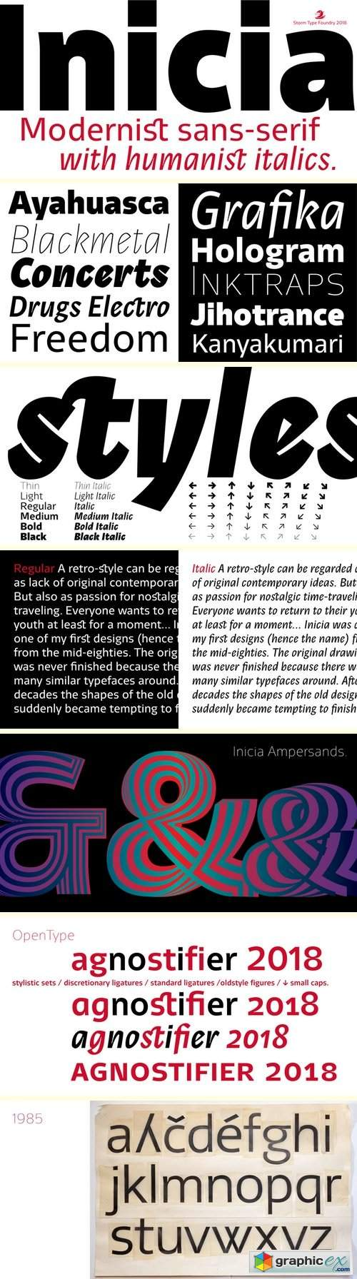 Inicia Font Family - 12 Fonts