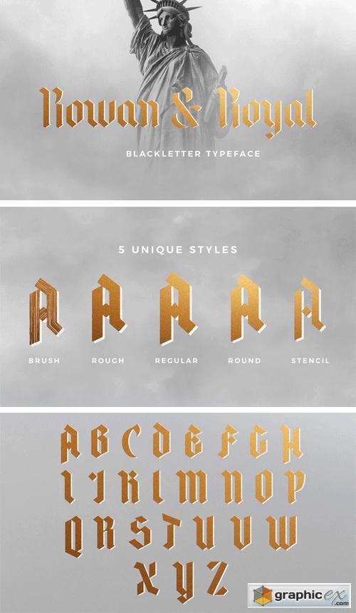 Rowan & Royal Font Family