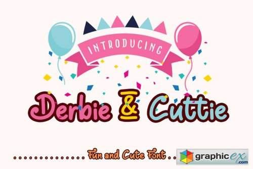 Derbie & Cuttie Font Family - 2 Fonts