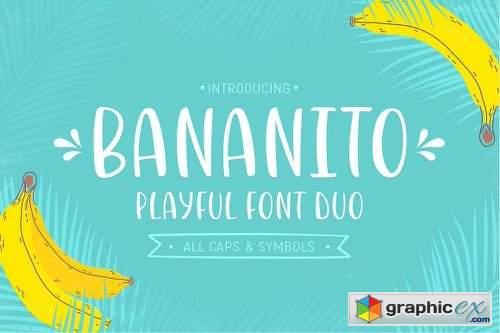 Bananito Font Duo Font Family - 2 Fonts