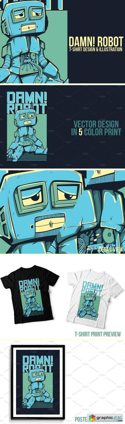 Damn! Robot Illustration