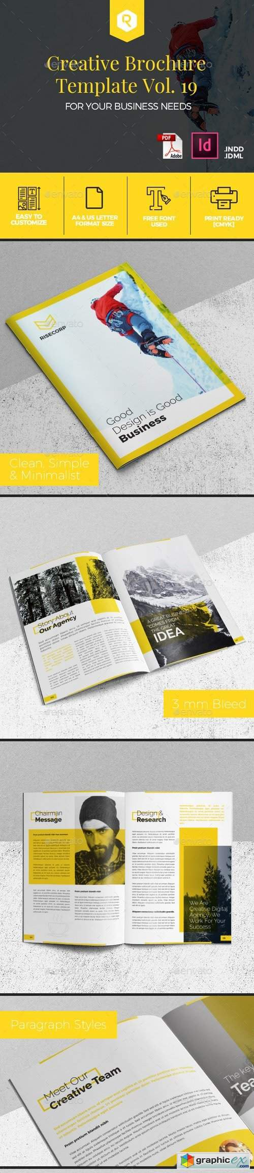 Creative Brochure Template Vol. 19
