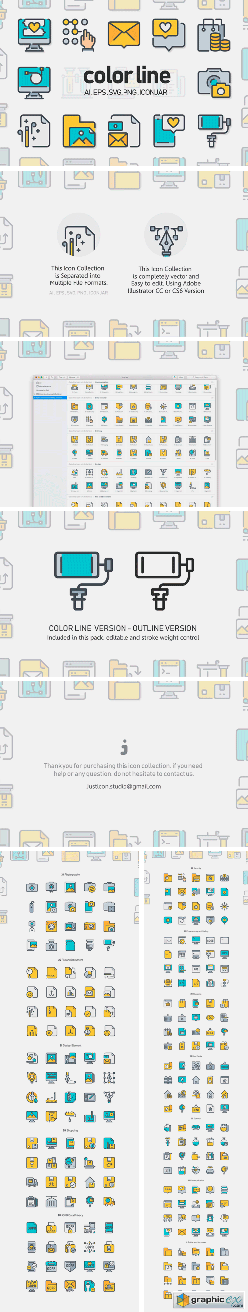260 Color Line Icon x2