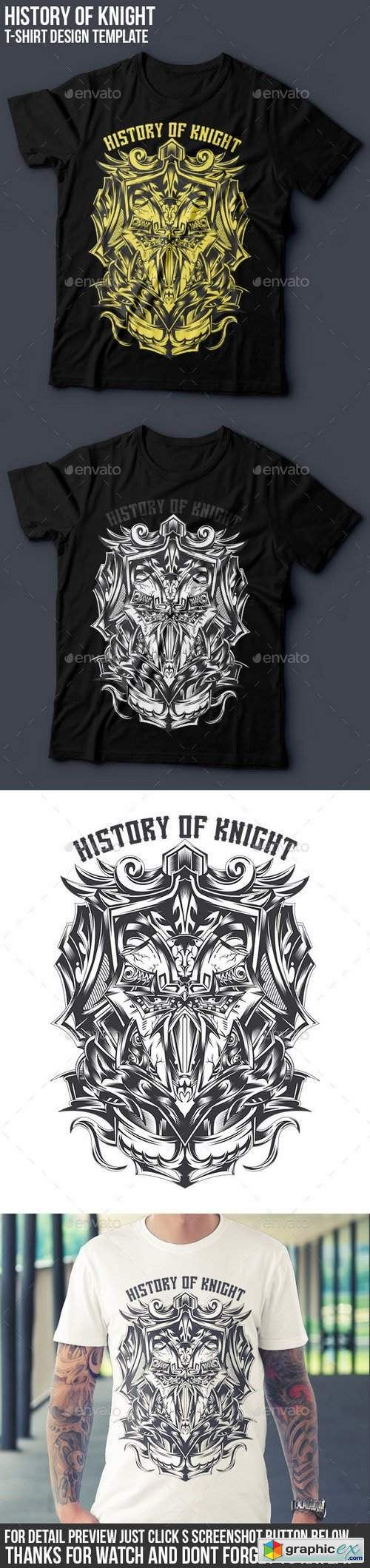 History of Knight T-shirt Design