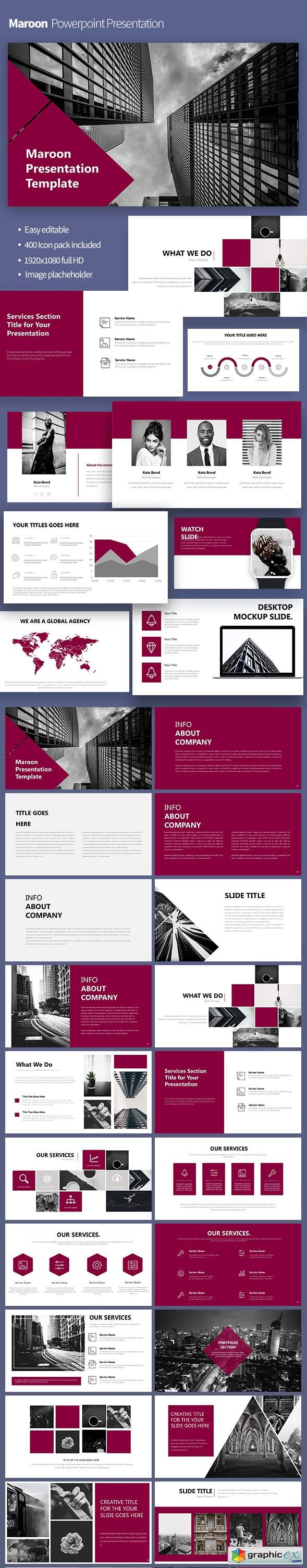 Maroon Powerpoint Template